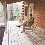 Front porch of The Hideaway cabin