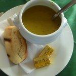 The potato/pea soup