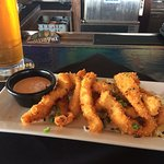 Enjoyed some tasty calamari. Happy hour price was $7  Washed it down with a castaways