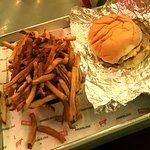 Bacon cheeseburger and cajun fries.