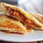 Bread baked on premises fresh daily. Baked beans jaffle!