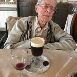 A good meal, a glass of wine and a Gaelic Coffee - at 96 you're allowed to rest your eyes :>)