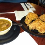 Seafood gumbo and the best fried chicken!