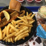 Walleye fish dinner (limited time).