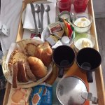 Breakfast tray in room