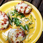 baked poatoes with chees and ham