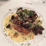 Fried pike perch from Mälaren, truffle emulsion, mixed Swedish mushroom, baked celeriac and swee