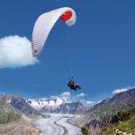 Paragliding above the Aletsch Glacier