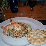 quinoa salad with shrimps