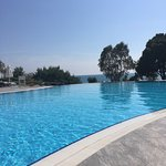 View from sun lounger around adult pool