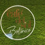 Logo on moss wall upon entering the restaurant