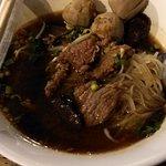 Tasty beef noodle soup