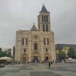 Basilica St Denis Paris (on a raony day)