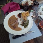 Magret de canard sce foie gras