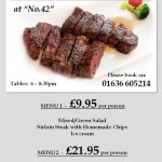 Friday night is our Steak Night....
