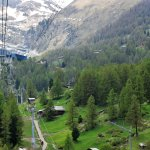 cable car way towards the highest cable are of the world