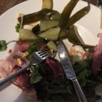 Ham Hock Salad, rather a lot of pickled cucumber and no rocket or Focaccia!