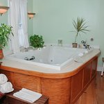 Spa Bath in the Master Guest Room. Oversized tub for 2