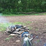 Lovely woodland campsite, made very welcome too. So peaceful camping by the river. Will come her