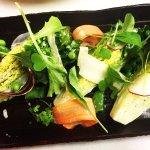 Little gem lettuce, snap peas, carrots, radish, housemade buttermilk vinaigrette