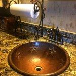"""""""kitchen"""" sink in cabin"""