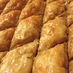Baklava fresh out of the oven
