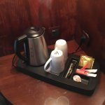 In room kettle w/coffee and tea