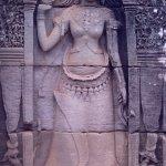restored bas-relief statue