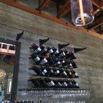 Wine on display at Valette Restaurant