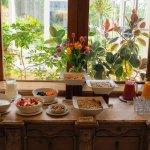 The lovely breakfast buffet offering