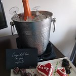Complimentary honeymoon champagne and treats!