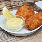 Salt cod fishcakes