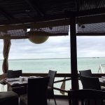 view of lagoon from outdoor seating