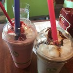 Cool atmosphere, wonderful shakes, and great burger!