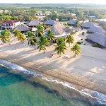 Beach Aerial of Jaguar Reef Lodge in Hopkins Village