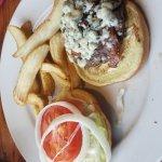 Blue Cheese Basil burger