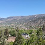 View of Glenwood Springs from trail