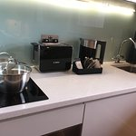 Impressed by quality of kitchen- induction hob, Bosch kettle that we have at home! Bit noisy roa