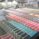Trays and trays of Jelly Bellies