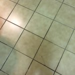 Cracked and loose tiles that you can feel beneath your feet.