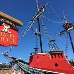 Entrance to Pirate Ship attraction