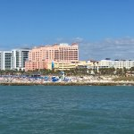 View of Clearwater Beach from the pirate ship