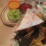 The Trio: Guacamole, Salsa & Queso & Corn Tortilla Chips