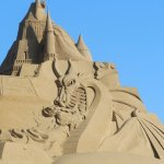 Sand sculptures looked great- we went just after G20