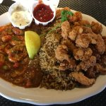 Some Cajun combo with shrimp, rice and gumbo