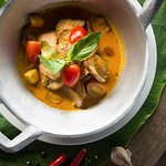 Traditional Thai red curry.