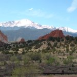 Pikes Peak from nearby Garden of the Gods