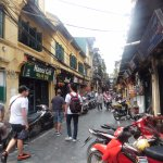 Our guides showing us around Hanoi