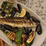 Grilled sea-bass