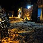 L'accampamento tendato e le sue affascinanti luci